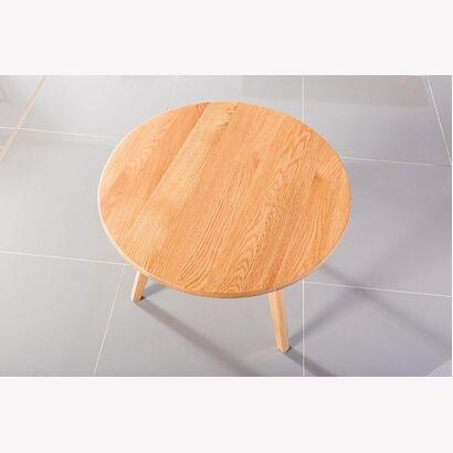 Magnus Round Coffee Table Solid Oak 90cm Diameter X