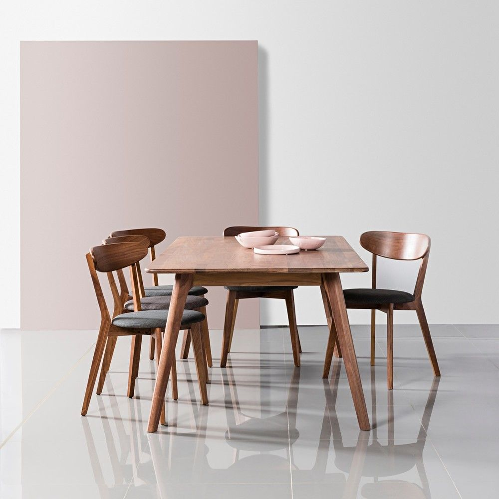 magnus dining table solid walnut table 180x100cm icon by design. Black Bedroom Furniture Sets. Home Design Ideas