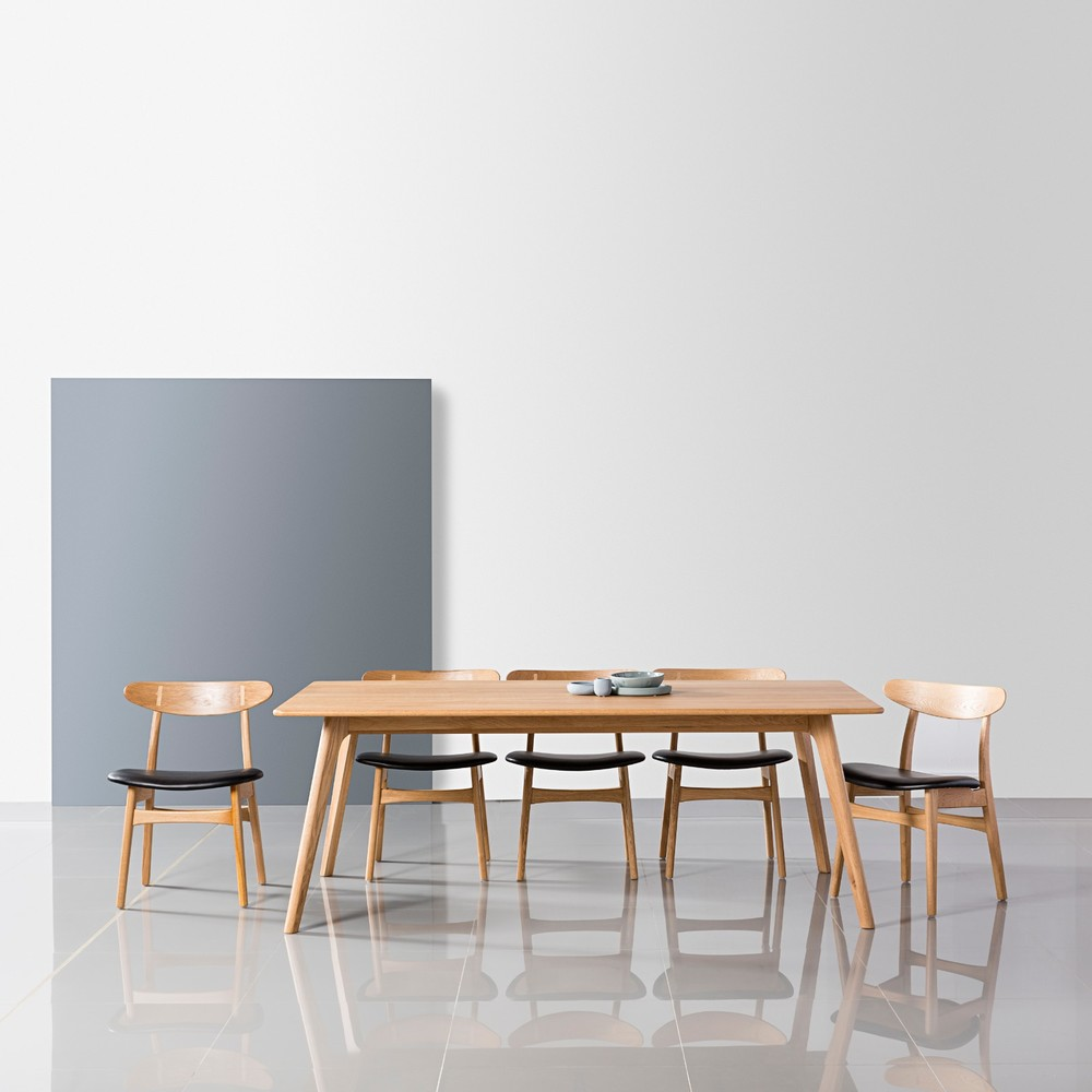 Details About Magnus 200cm Dining Table  Solid American Oak Wood  8  Seater Danish Scandinavian