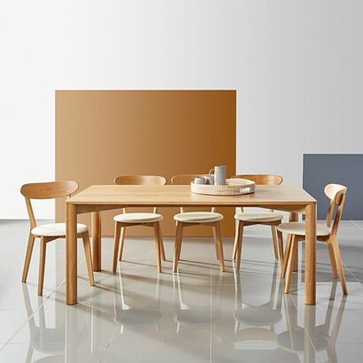 Otto Dining Table - Solid Oak - 180x100x75cm