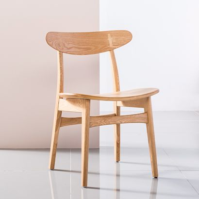 Astrid Solid Oak Dining Chair - Oak Seat - Cross Backrest