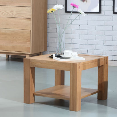 Inga Square Side Table - Solid Oak - 55x55x40cm