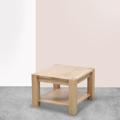 Anya Square Side Table - Solid Oak - 55x55x40cm