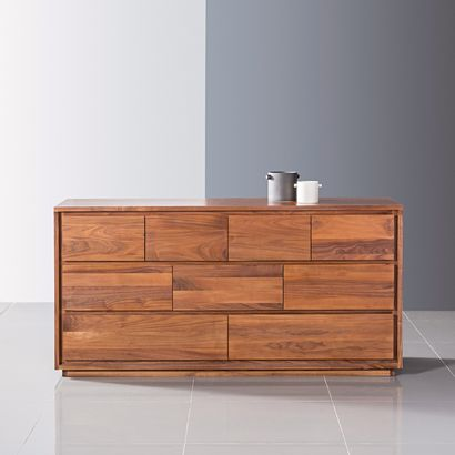 Tobias 9 Drawer Chest - Solid Walnut - 160x45x80cm