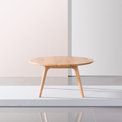 Magnus Round Coffee Table - Solid Oak - 90cm Diameter x 45cm