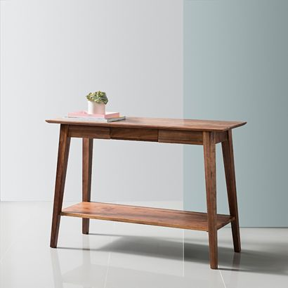 Jolanda Console Table - Solid Walnut - 110x40x76cm