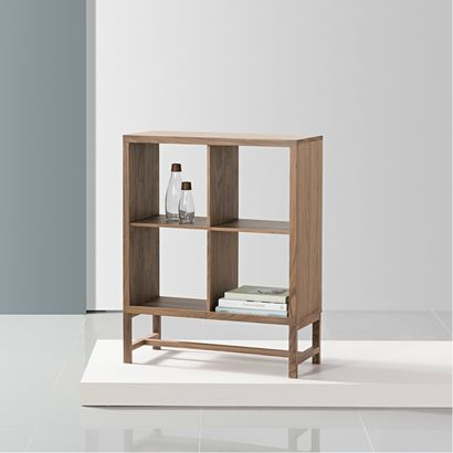 Jonas 2x2 Display Shelf - Walnut - 75x33x94cm