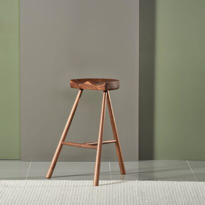 Jensen Bar Stool - Solid Walnut - 70cm high