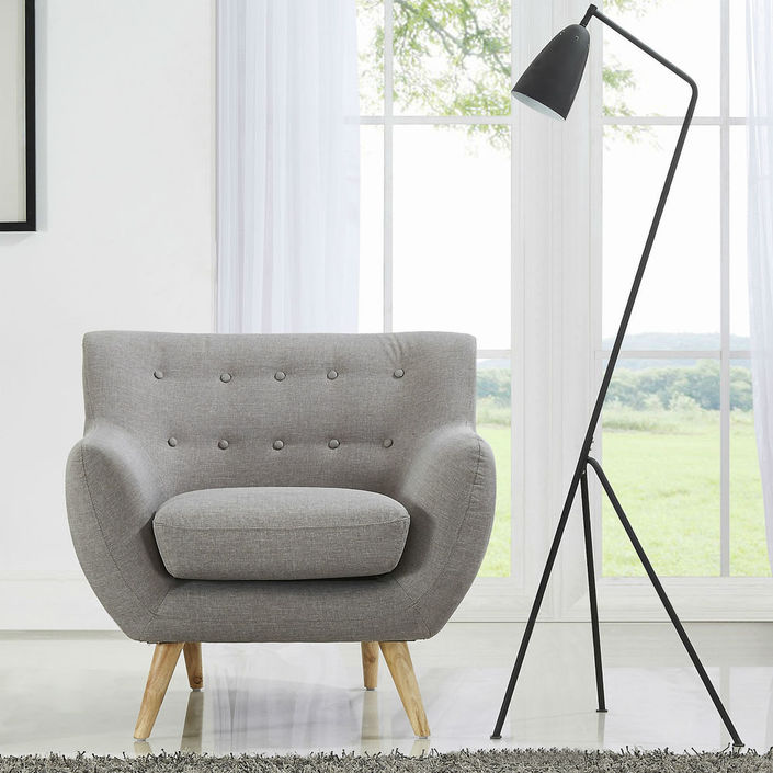 Sixties Armchair - Light Grey
