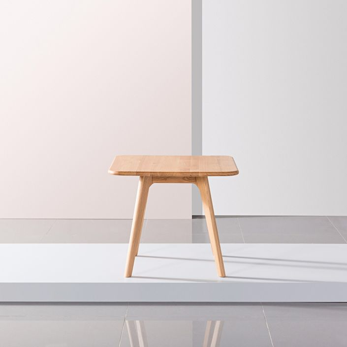 Magnus Square Side Table - Solid Oak - 60x60x50cm