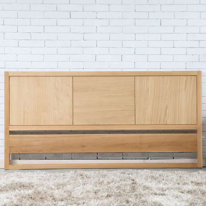 Bruno King Size Bed Head - Solid Oak - 191x94cm