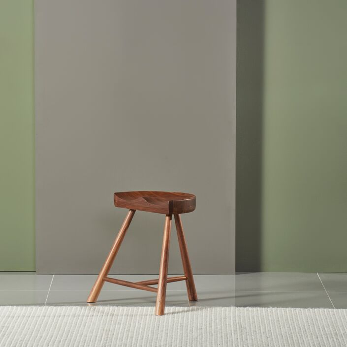Jensen Stool - Solid Walnut - 46cm high